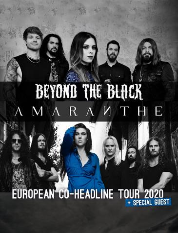 Beyond The Black & Amaranthe EUROPEAN CO-HEADLINE TOUR 2020