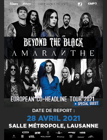 Beyond The Black & Amaranthe EUROPEAN CO-HEADLINE TOUR 2021